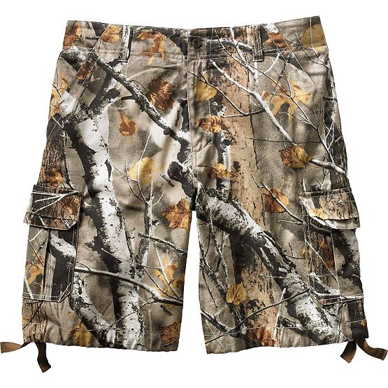 Men's Base Camp Big Game Camo Twill Cargo Shorts at Legendary Whitetails
