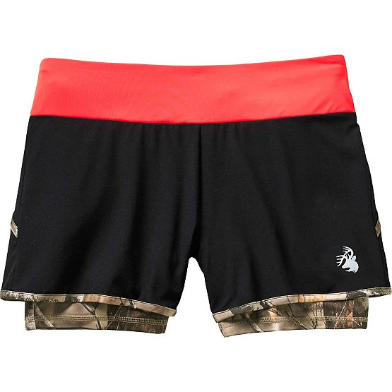 Ladies Sunset Performance Camo Lined Shorts at Legendary Whitetails