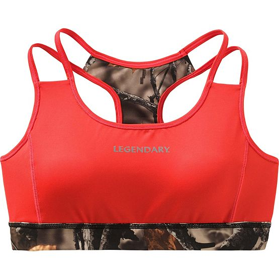 Ladies Big Game Camo Stadium Reversible Sports Bra at Legendary Whitetails