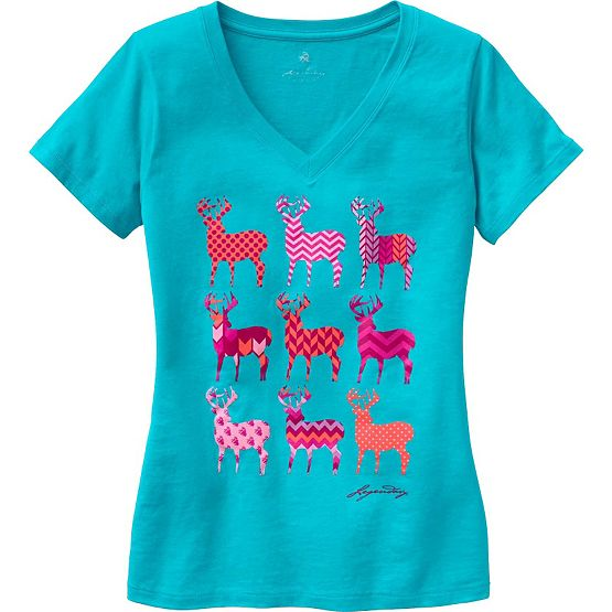 Ladies Trophy Buck V-Neck Lounge Top at Legendary Whitetails
