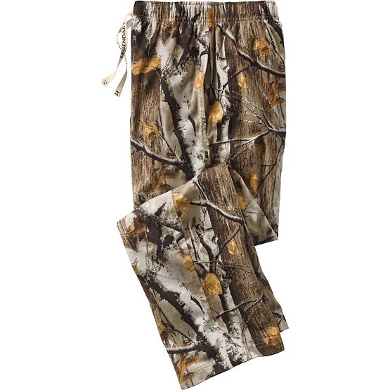 Men's Big Game Camo Woodlot Cotton Lounge Pants at Legendary Whitetails