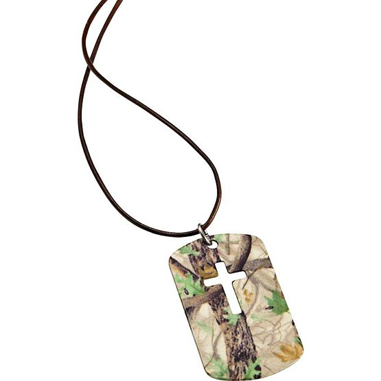 Women's God's Country Camo Cut Cross Necklace at Legendary Whitetails