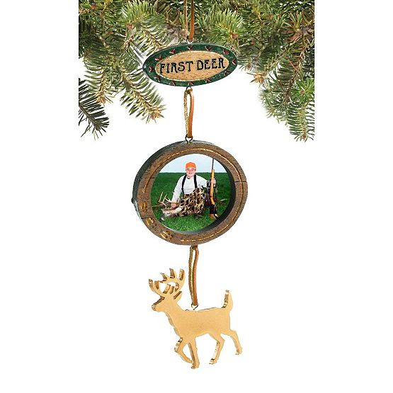 First Deer Photo Ornament at Legendary Whitetails