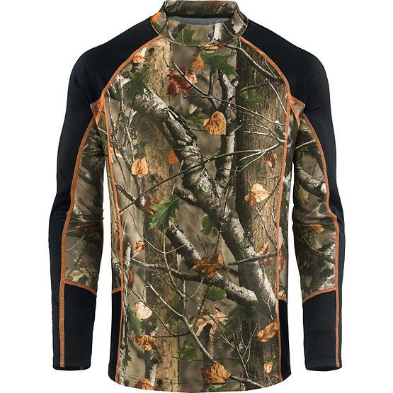 HuntGuard® Nanotec Base Layer Mock Neck Shirt at Legendary Whitetails