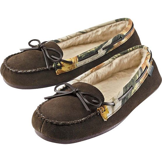 Women's God's Country Camo Quest Moccasins at Legendary Whitetails