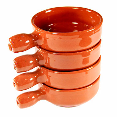 Handled Terra Cotta Cazuelas - 5 Inches (4 Dishes)