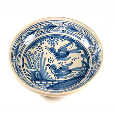 Hand-Painted Golondrina Soup Bowl, Swallow Design - 9 Inches