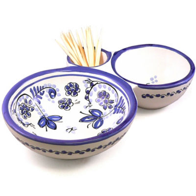 Blue & White Olive Serving Dish