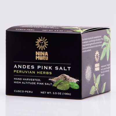 Andes Pink Salt with Peruvian Herbs by Nina Muru