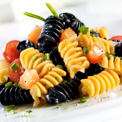 Smoked Salmon and Squid Ink Pasta by Sandro Desii