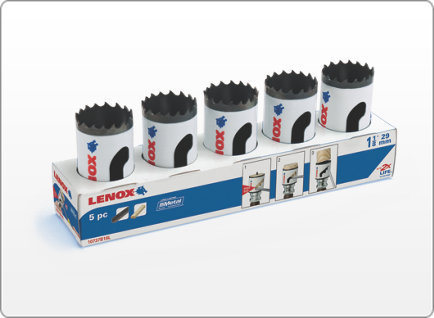 LENOX CONTRACTOR'S HOLE SAW 5 PACK
