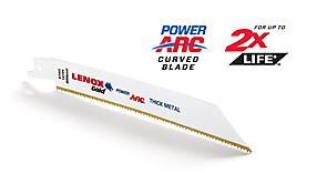 Gold® Power Arc Curved Reciprocating Saw Blades