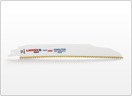LENOX Gold® POWER ARC CURVED DEMOLITION RECIPROCATING SAW BLADES