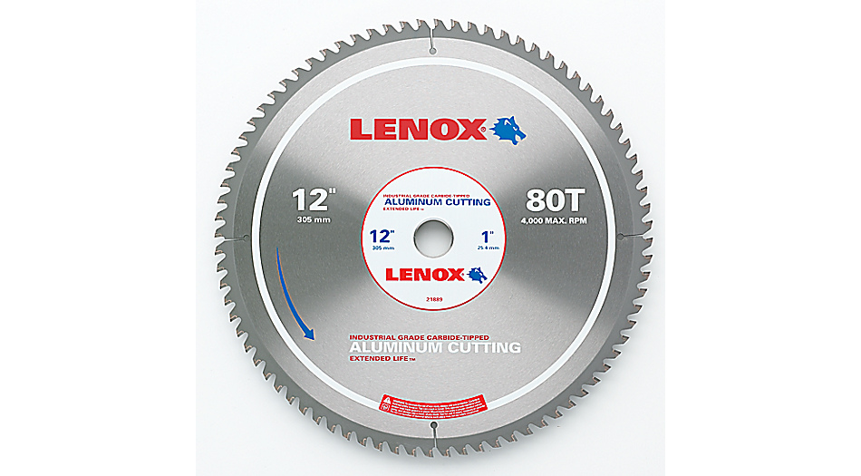 Lenox metal cutting circular saw blades greentooth