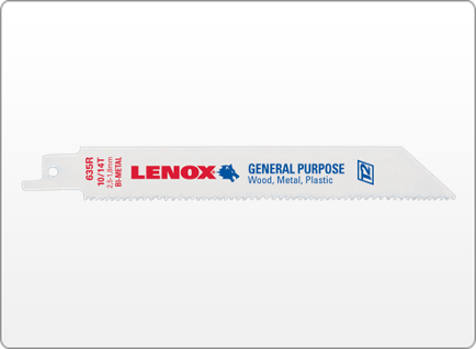 LENOX GENERAL PURPOSE BI-METAL RECIPROCATING SAW BLADES
