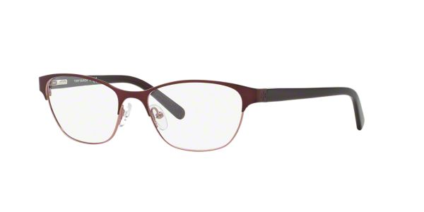 Eyeglass Frames At Lenscrafters : TY1015: Shop Tory Burch Red/Burgundy Cat Eye Eyeglasses at ...