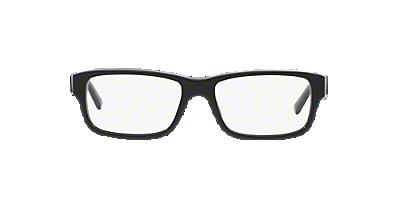 pr16mv shop prada black rectangle eyeglasses at lenscrafters
