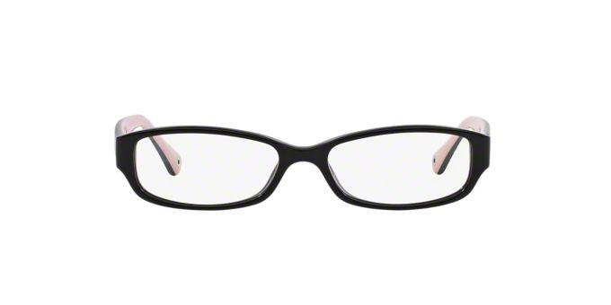 HC6001 EMILY: Shop Coach Black Rectangle Eyeglasses at ...