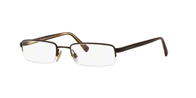BE 1012: Shop Burberry Semi-Rimless Eyeglasses at LensCrafters