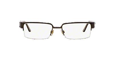be1110 shop burberry brown semi rimless eyeglasses at