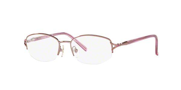 Rimless Glasses At Lenscrafters : SF2550B: Shop Sferoflex Pink/Purple Semi-Rimless ...