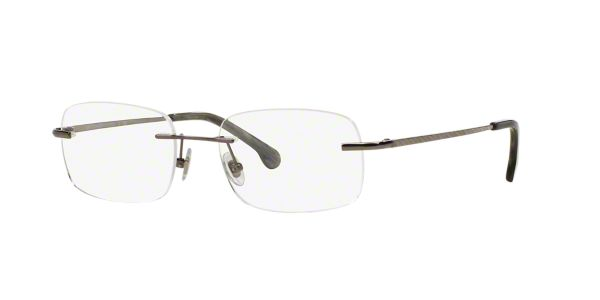 Brooks Brothers Eyeglass Frames Lenscrafters : BB495T: Shop Brooks Brothers Silver/Gunmetal/Grey Rimless ...
