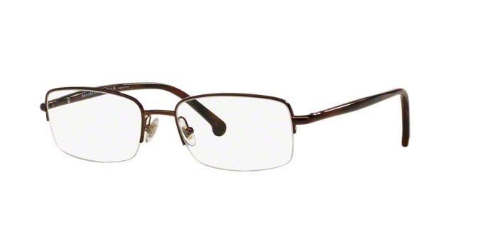 BB 499: Shop Brooks Brothers Semi-Rimless Eyeglasses at ...