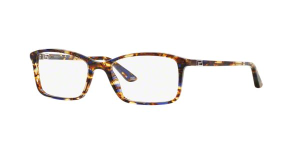 Glasses Frames Lenscrafters : VE3163: Shop Versace Brown/Tan Square Eyeglasses at ...