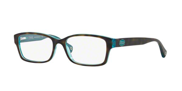 hc6040 shop coach tortoise rectangle eyeglasses at