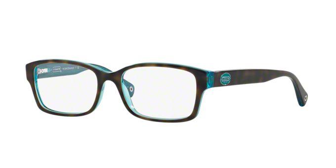 Coach Green Eyeglass Frames : HC6040: Shop Coach Tortoise Rectangle Eyeglasses at ...
