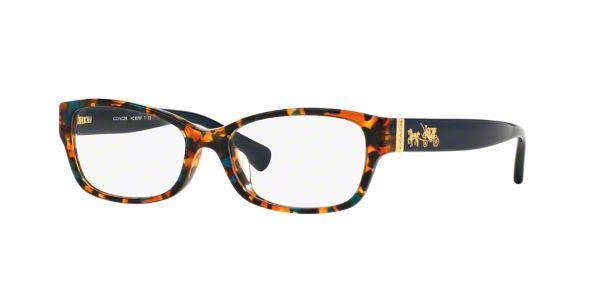 HC6078: Shop Coach Blue Rectangle Eyeglasses at LensCrafters