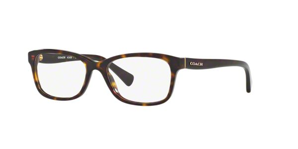 Coach Eyeglass Frames Lenscrafters : HC6089: Shop Coach Tortoise Rectangle Eyeglasses at ...