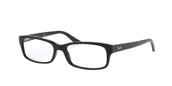 Lenscrafters Mens Eyeglass Frames : RX 5187: Shop Ray-Ban Black Rectangle Eyeglasses at ...