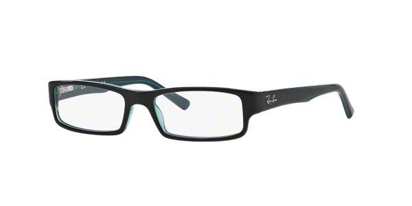 RX5246: Shop Ray-Ban Blue Rectangle Eyeglasses at LensCrafters
