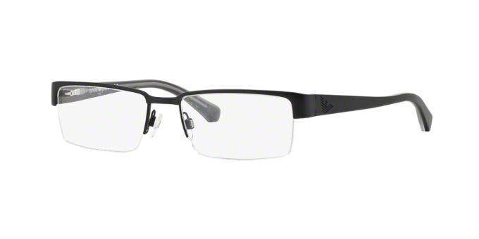 EA1006: Shop Emporio Armani Semi-Rimless Eyeglasses at ...