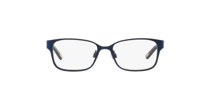 PP8032: Shop Polo Prep Blue Rectangle Eyeglasses at ...