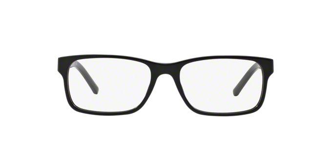 BE2150: Shop Burberry Black Rectangle Eyeglasses at ...