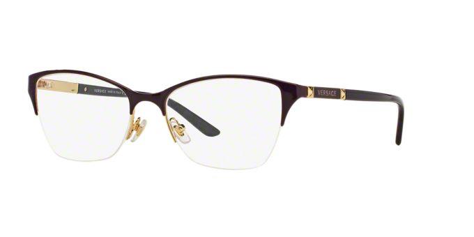 VE1218: Shop Versace Semi-Rimless Eyeglasses at LensCrafters
