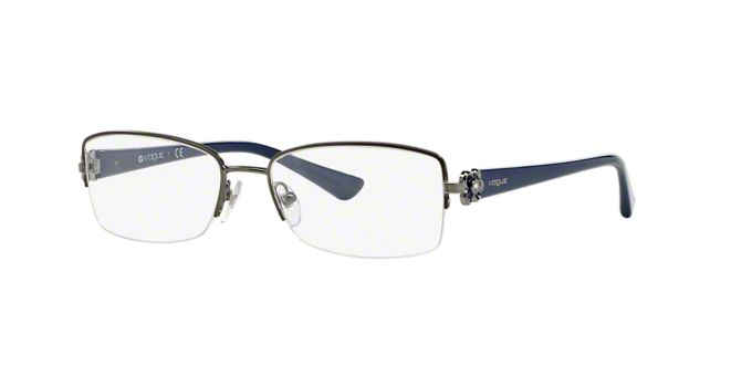 VO3875B: Shop Vogue Semi-Rimless Eyeglasses at LensCrafters