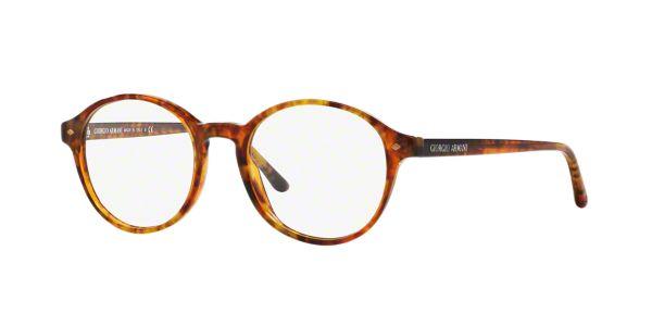 AR7004: Shop Giorgio Armani Tortoise Round Eyeglasses at ...