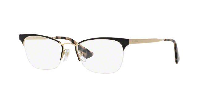 PR 65QV: Shop Prada Semi-Rimless Eyeglasses at LensCrafters