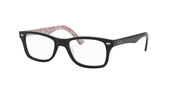 RX5228: Shop Ray-Ban Black Square Eyeglasses at LensCrafters