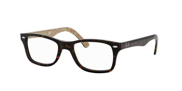 Kate Spade Glasses Frames Lenscrafters : RX5228: Shop Ray-Ban Tortoise Square Eyeglasses at ...