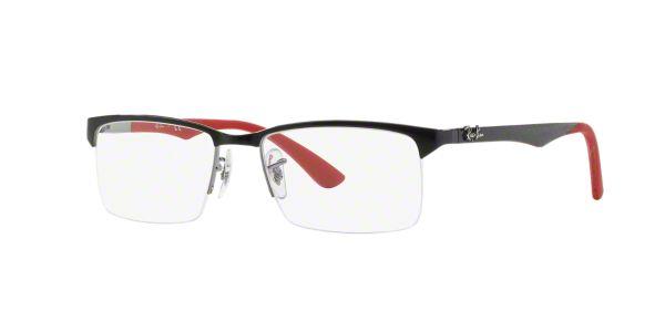 RX8411: Shop Ray-Ban Black Semi-Rimless Eyeglasses at ...