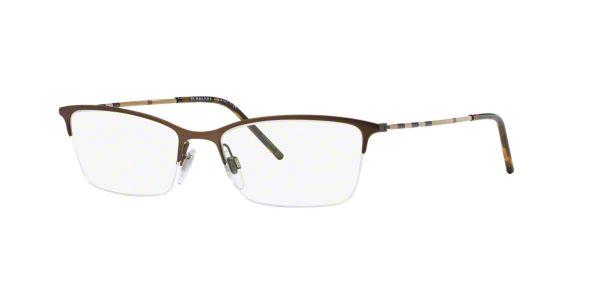 BE1278: Shop Burberry Brown/Tan Cat Eye Eyeglasses at ...