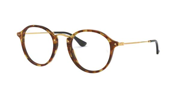 Ray Ban Eyeglass Frames Lenscrafters : RX2447V: Shop Ray-Ban Tortoise Round Eyeglasses at ...