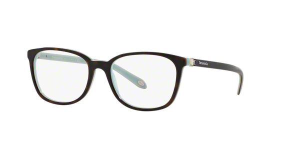 TF2109HB: Shop Tiffany Tortoise Square Eyeglasses at ...