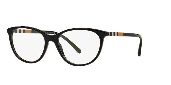 Chanel Eyeglasses Frames Lenscrafters : BE2205: Shop Burberry Black Round Eyeglasses at LensCrafters
