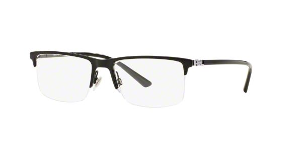 RL5094: Shop Ralph Lauren Black Semi-Rimless Eyeglasses at ...