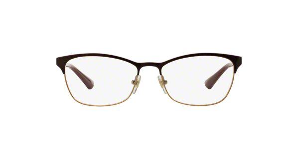 VO3987B: Shop Vogue Red/Burgundy Cat Eye Eyeglasses at ...